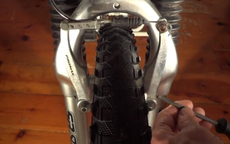 How To Fix Hybrid/Mountain Bike V Brakes Rubbing On One Side