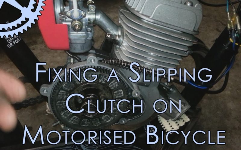 Fixing A Slipping Clutch on Motorised Bicycle (Full Tutorial)