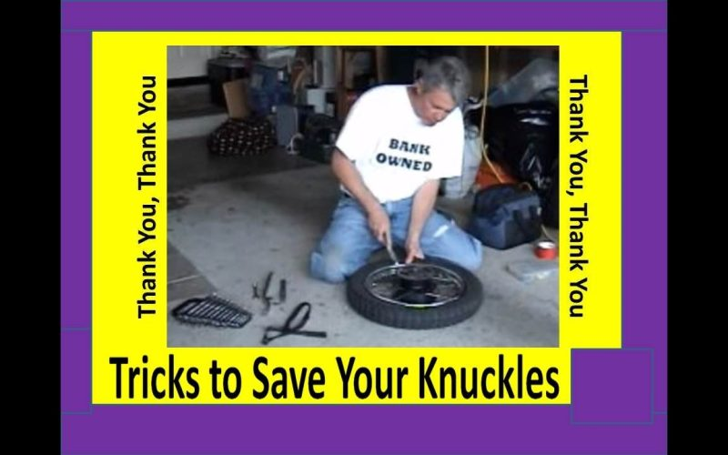 MOTORCYCLE TIRE REPAIR 101 – TRICKS how to EASILY REMOVE the INNER TUBE by Carl Quakenbush