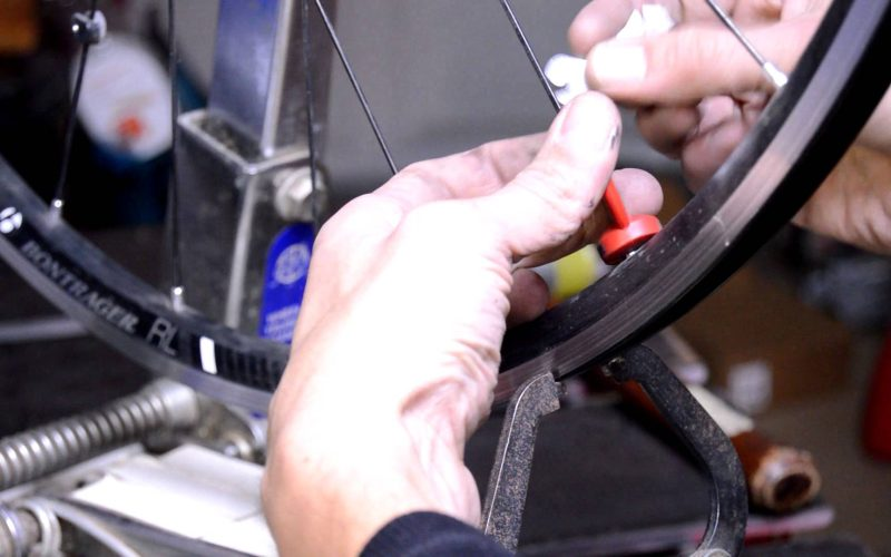 How to remove a dent or ding from a bicycle rim