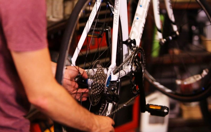 How to Replace a Back Bike Wheel   Bicycle Repair