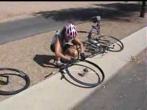 Changing a Road Bike Tire